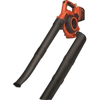 BLACK+DECKER GWC3600L20 Aspirateur, Souffleur, Broyeur de feuilles sans fil - 36 V - 2 Ah - Volume d'aspiration : 3,4 m3/min - Capacité : 17 L - 1 batterie