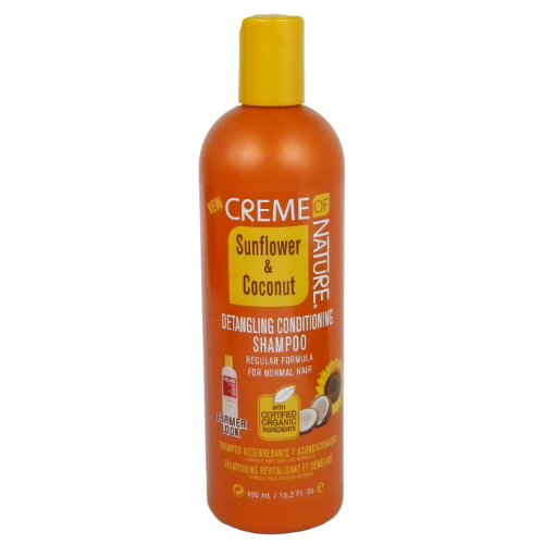 Creme of Nature Shampooing Revitalisant et Démêlant pour Cheveux Normaux 450ml
