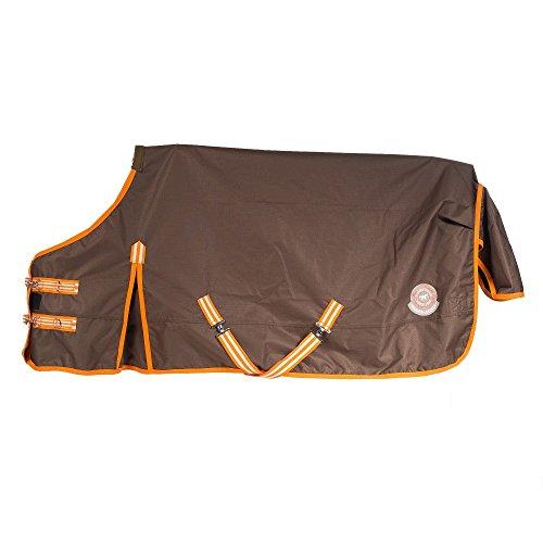netproshop Pferd Zubehör Regendecke Ungefüttert, Groesse:75, Farbe:Orange/Braun