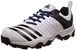 adidas Mens 22 Yards Trainer 17 Ftwwht, Cblack and Mysblu Cricket Shoes - 12 UK/India (47.33 EU)