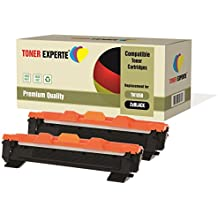 2-Pack TONER EXPERTE® Compatible with TN1050 Premium Toner Cartridges for Brother DCP-1510 DCP-1512 DCP-1610W HL-1110 HL-1112 HL-1210W MFC-1810 MFC-1910W
