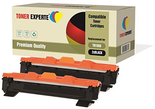Preisvergleich Produktbild 2-er Pack TONER EXPERTE® Premium Toner kompatibel zu TN1050 für Brother DCP-1510 DCP-1512 DCP-1610W HL-1110 HL-1112 HL-1210W MFC-1810 MFC-1910W