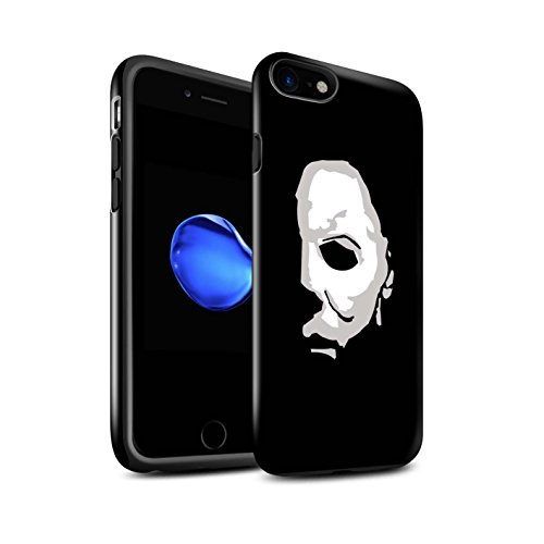 Stuff4® Glanz Harten Stoßfest Hülle/Case für Apple iPhone 8 / Michael Myers Inspiriert Kunst Muster/Grusel Filmkunst Kollektion