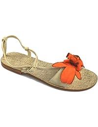 Zapatos Mujer Eddy Daniele 37 EU Sandalias Naranja Gamuza as171 JdxpAuTU