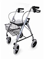 Drive DeVilbiss Healthcare SR8 Steel Rollator with Underseat Basket / Cane Holder / Tray