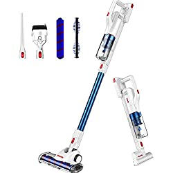 Vistefly V10 Pro Aspirateur Balai sans Fil sans Sac,2 en 1 Aspirateur Puissant 22000pa, 250W Rechargeable Batterie 40 min, 2 Vitesses,Ultra Léger,pour Voiture,Maison,Poils d'animaux