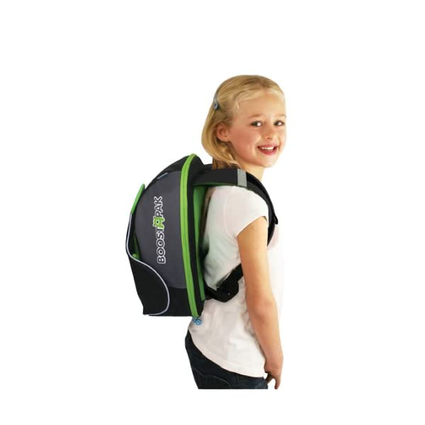 Trunki BoostApak - Travel Backpack & Child Car Booster Seat for Group 2-3 (Green)  QUICKLY TRANSFORMS – Kid's bag to portable booster cushion in seconds (featuring internal hard shell and fold out seatbelt guides) AVOID HIRE CHARGES - On fly drive holidays! Can also be used as dining, cinema or stadium booster to see the action HAND LUGGAGE - 8-litre capacity for packing toys/games/stationary keeping children entertained on the go 12