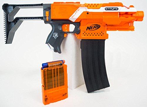 Preisvergleich Produktbild Nerf N-Strike Elite XD Stryfe - Trooper Edition - Original Nerf Blaster im Bundle mit coolem Zubehör von Nerf und Blasterparts