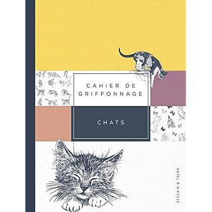 CAHIER DE GRIFFONNAGE CHATS: Pour tout noter sans se stresser !