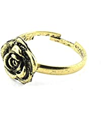 39501a496c2e Mes Bijoux Bracelets Anillo Solitario Joya Barata Moda Mujer Niño Dorado  Maia Flor Talla 14