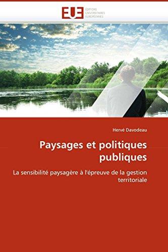 Paysages et politiques publiques par Hervé Davodeau