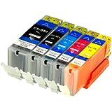 5 Druckerpatronen für Canon LS-PGI550XL LS-CLI551XL MIT CHIP und Füllstandanzeige alternativ für Canon Pixma iP7250, MG5450, MG6350, MX725, MX925, kompatibel zu PGI550BK , CLI551C , CLI551M, CLI551Y und CLI551BK