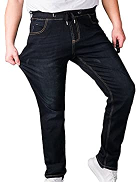 Sentao Casual Pantaloni Di Jeans Da Uomo Oversized Jogger Pantaloni Con Elastico In Vita