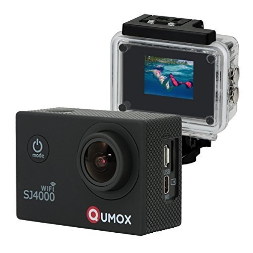 QUMOX Actioncam SJ4000, Wifi Action Sport Kamera, Camera Waterproof, Full HD, 1080p Video, Helmkamera, Schwarz, 117200