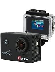 QUMOX Actioncam SJ4000, Wifi Action Sport Kamera, Camera Waterproof, Full HD, 1080p Video, Helmkamera, Schwarz, 117200