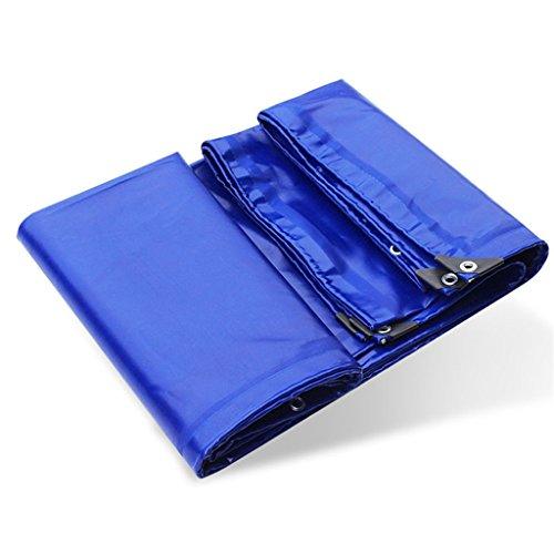Bâches pour tente Toiles étanches à l'eau, résistantes aux UV,la pourriture,à la déchirure et la déchirure,imperméables l'eau,en PVC,avec œillets et bords renforcés-Bleu (taille : 6X4M)