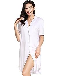 1609ab8ad9 Avidlove Damen Viktorianisch Nachthemd T-shirt Luxus Nachtwäsche