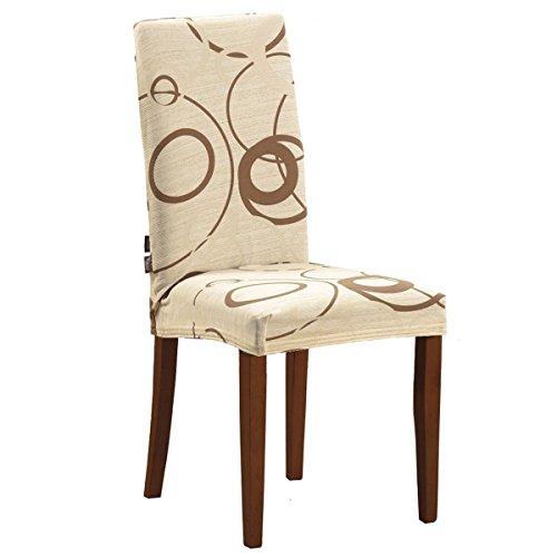 Joker Coprisedia vesti sedia millerighe elasticizzato 2 pezzi linea Cerchio L680 SAFARI / BEIGE CHIARO