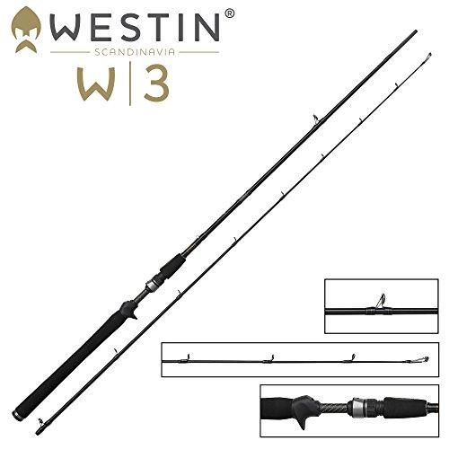 Westin W3 Vertical Jigging-T XH 188cm 28-52g - Spinnrute zum Vertikalangeln auf Hecht, Zander & Barsch, Vertikalrute, Spinnangel