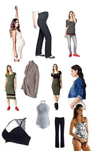 Damen Umstandsmode Paket/Umstandshose Umstandskleid Shirt Top Leggings Hose Kleid Overalls