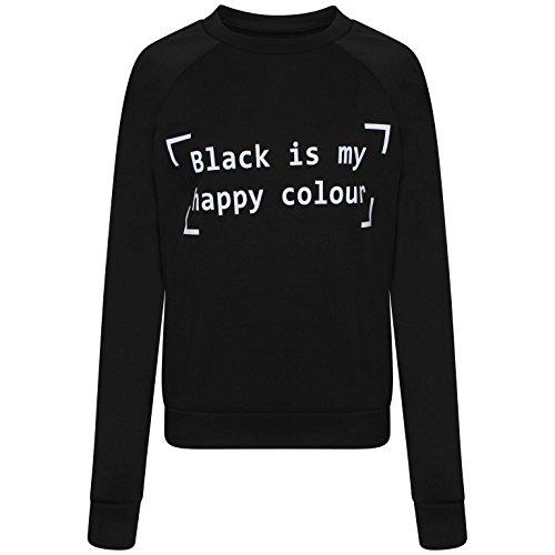 Damen Mädchen Schwarz ist meine Spielbox Sweatshirt EU 36-42 (S/M (EU 36-38), Schwarz)