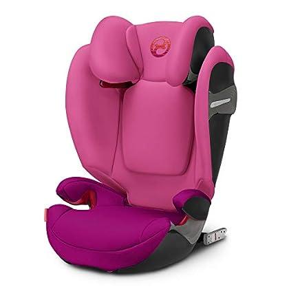Cybex - Silla de coche grupo 2/3 Solution S-fix, para coches con y sin ISOFIX, 15-36kg, desde los 3 hasta los 12 años aprox., Passion Pink