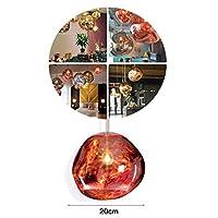 Zhoujinf Pendant Lamp Shade,Post-Modern Melt Glass Pendant Lights Shade Lava Irregular Lamp Ceiling Suspension Hanging Light Cover for Bedroom Living Room Restaurant