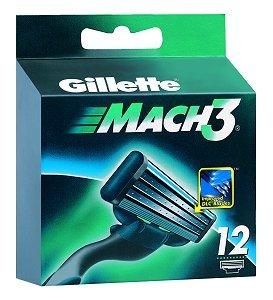 Gillette Mach 3 Lamette Ricambi - 12 Lame da Rasoio