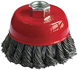 Spartan Twisted Cup Brush for Removing Rust, Paint, As Well as Polishing (3 Inch)