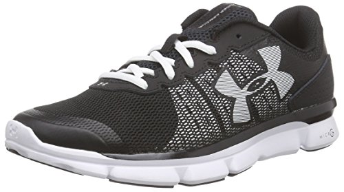 Under Armour UA W Micro G Speed Swift, Damen Laufschuhe, Schwarz (Blk/Wht/Wht 1), 36.5 EU (Sandalen Von Under Armour)