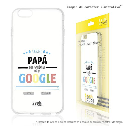 �lle Soft TPU Silikon Hülle Transparent für LG K40 l Case, Cover, Handy, High Definition Druck [Día del Padre Frase Google] ()