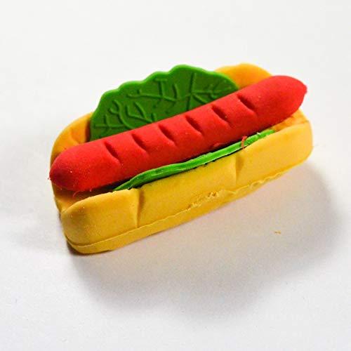 Unbekannt Générique Radiergummi Soda Fast Food Nahrung Dekoration Fun Kawaii, Lebensmittelattraktiv, Radiergummi, Modell wählbar - Hot Dog Pain Saucisse (Hot Dog Dekorationen)