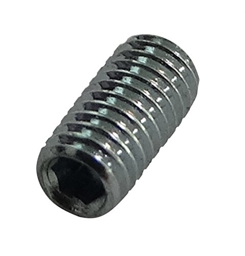 Aerzetix: 100 Schrauben kopflose Schrauben Madenschrauben M4x10 DIN913 Stahl verzinkt Allen 2mm C17550