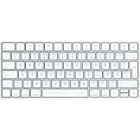 Apple Magic MLA22D/A Tastatur (QWERTZ, Multimediatasten,Wiederaufladbar) Silber / Weiß