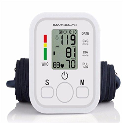 XSQRXYQ Oberarm- Blutdruckmessgerät mit Arrhythmie-Anzeige, mit WHO Ampel-Farbskala, für eine präzise Blutdruckmessung