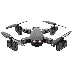 Xmiral Drones L107 5mp 2.4ghz quatrième Double caméra WiFi . quadcopt Flux Optique Pliables rc (Noir)