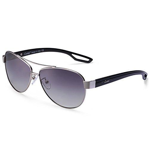 Carfia UV400 Schutz Polarisierte Damen Herren Sonnenbrille Pilot Brille für Fahren, Freizeit und Reise