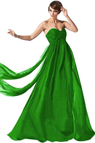 Lemandy robe de soirée empire avec traine Vert