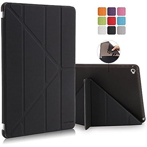 Multi Plegable Smart Case con Función de conexión y desconexión automática para iPad Air (iPad 5)–Funda y carcasa de TPU frontal (Multi Color) + Protector de pantalla + paño de limpieza + Stylus
