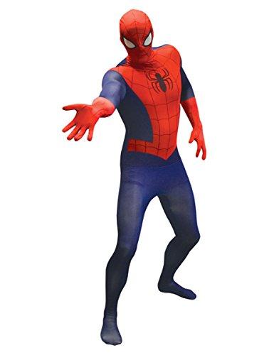 (KULTFAKTOR GmbH Marvel Spiderman Value Morphsuit Lizenzware blau-rot M (bis zu 1,60 m))