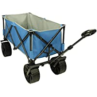 Fridani BTB Trolley XXL Handcart up to 100kg Beach Cart with Wide Tyres incl.Shelf, Drawbar with Round Handle and Travel Bag