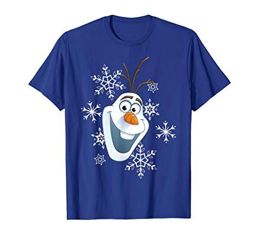 Disney Frozen 2 Olaf Snowman Sven Reindeer Friends Unisex Mens Tee Crew T-Shirt