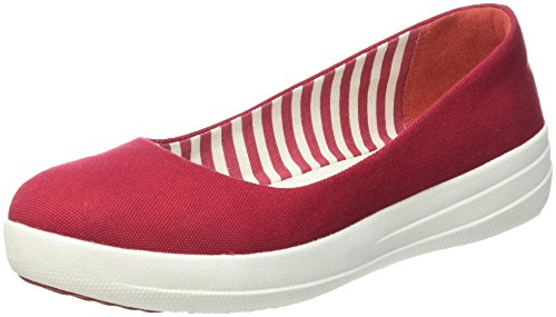 FitFlop - F-sporty Ballerina Canvas, Ballerine Donna, Red (FF Red), EU 40 (UK 6.5)