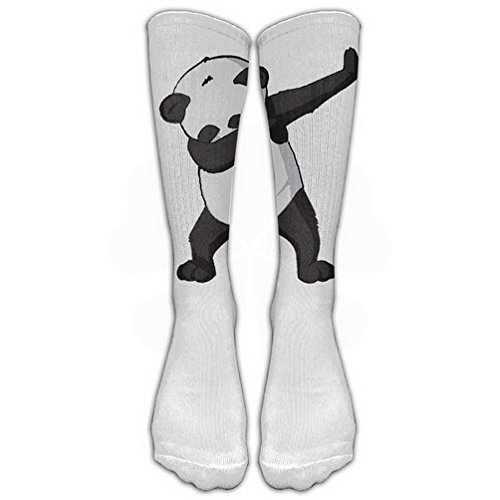 UFHRREEUR Cute Funny Hip Hop Panda Dabbing Dab Dance White Stockings Long Tube Socks, Classics Knee High Socks Sports Socks for Women Men Teens Friends Family by ()