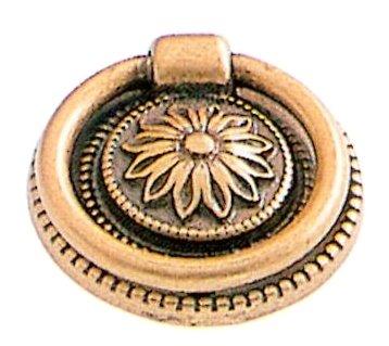 Anneau de porte ou tiroir de meuble en laiton patiné Ø 38 mm, ANNEAU Louis XVI