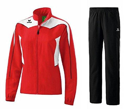 Erima Shooter Trainingsanzug Damen Präsentationsanzug Jogger Jogginganzug (44, Red/White/Black)