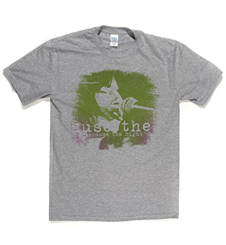 Patti Smith Classic Rock Musik Legends Retro-T-Shirt Sports Grau