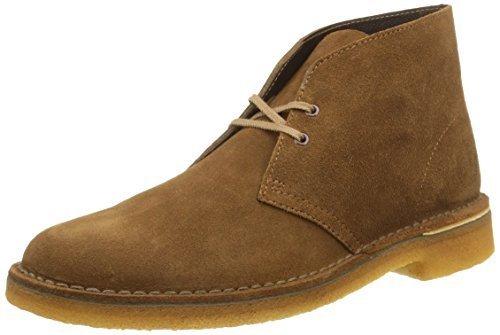 Clarks Originals Desert Boot, Herren Desert Boots Kurzschaft Stiefel & Stiefeletten,Grau (Wolf Suede) Braun (Cola Suede)