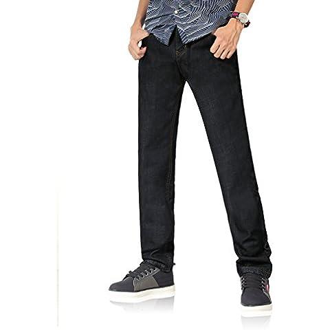 Demon&Hunter 801 Series Hombre Forro Polar Corte recto Pantalones Vaqueros