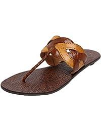 Catwalk Tan Leather Slip-on for Women's